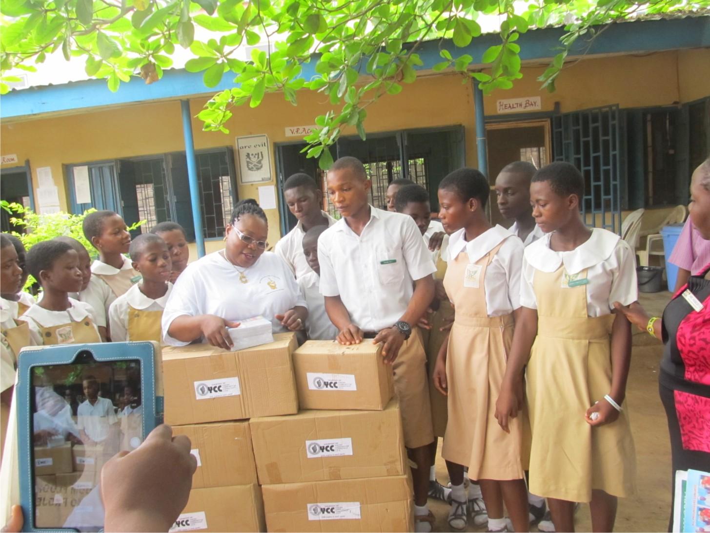 YCC donates exercice books